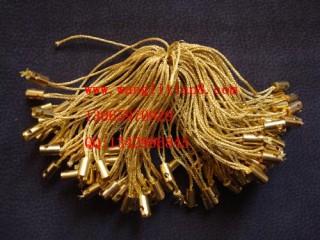 8000036--每包100个--金丝绒手机链--金色