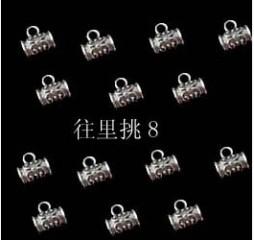 8000114--每包100个饰品小藏银扣小号藏银环--镍色