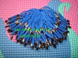 8000043--每包100个--镍锌合金手机链--蓝色