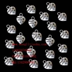 8000584--每包100个藏银小饰品--LOVE0爱心