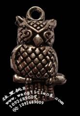 8000616--每包100个--藏银系列--漏空猫头鹰