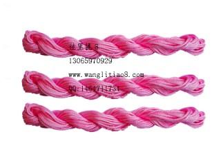 8000817--10M装--DIY饰品配件粗编织线--粉红色