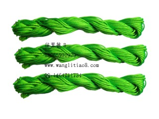 8000815--10M装--DIY饰品配件粗编织线--绿色