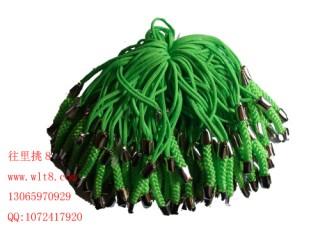 8000119--每包100个--镍锌合金手机链--绿色