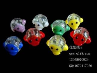 8000575--每包50个--琉璃饰品配件夜光鸭--混色