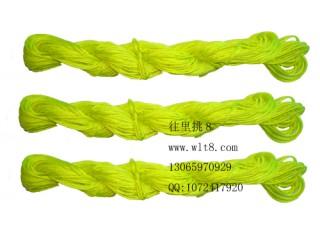 8000825--10M装--DIY饰品配件粗编织线--荧光黄