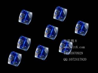 8205046--每包20个--方形多棱夜光水晶--宝石蓝