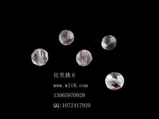8205066--每包100个--多菱形水晶--粉红色