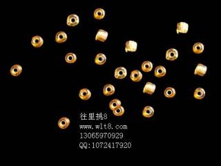 8000920--每包500个独饰源金黄色小米珠--混装