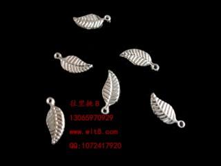 8205033--每包100个--独饰源藏银古银--小树叶
