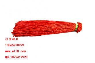 8000058--每包100个--七号线脚链--红色