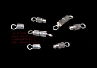 8205086--每包50个高级有环小直镙丝扣银+扣托