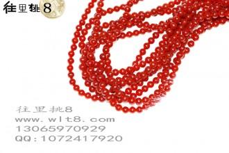 8205079--每条60个6mm酒红色独饰源玉石散珠