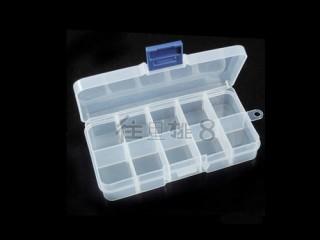 8000838--十格透明软塑料饰品盒