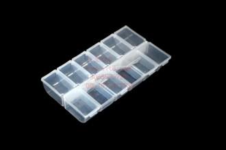 8000840--12格透明软塑料饰品盒