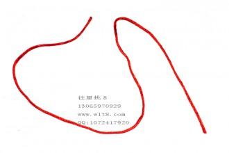 8001006--每捆1200米--七号线手链原线材--红色