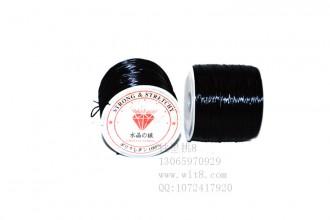 8001020--每个100米装--DIY饰品配件水晶专用弹性线材--黑色