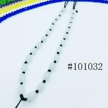 8001011--每包100个--可伸缩全椭圆玉珠粗线项链--黑色